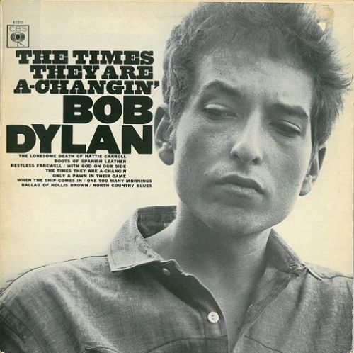 BOB DYLAN The Times They Are A-Changin' Vinyl Record LP Dutch CBS